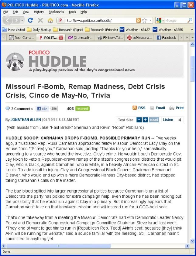 h/t Politico Huddle - 20110419