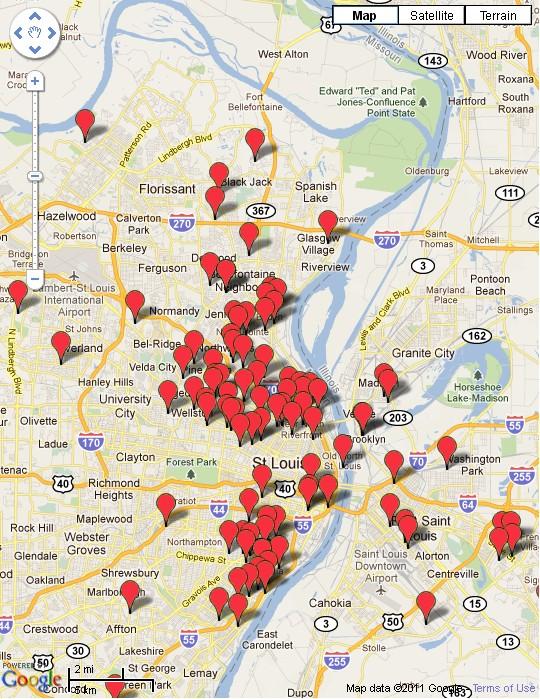 St. Louis Post Dispatch: 2011 Homicide Map
