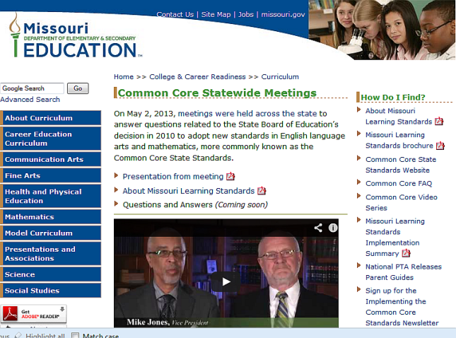 DESE Common Core Web Page - Questions and Answers - 20130510 - 01