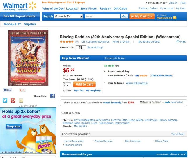 Blazing Saddles - 20130628 - Walmart